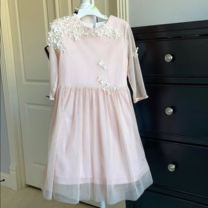Chasing Fireflies Pale Pink with flowers Dress